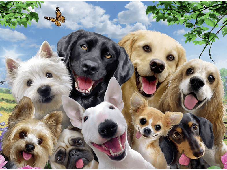 RAVENSBURGER  Delighted Dogs Puzzle, Mehrfarbig | 04005556132287