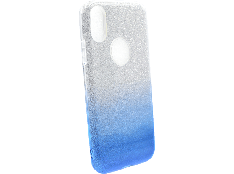 AGM 27668 Slope , Backcover, Apple, iPhone X, iPhone XS, Polycarbonat und Thermoplastisches Polyurethan, Silber/Blau