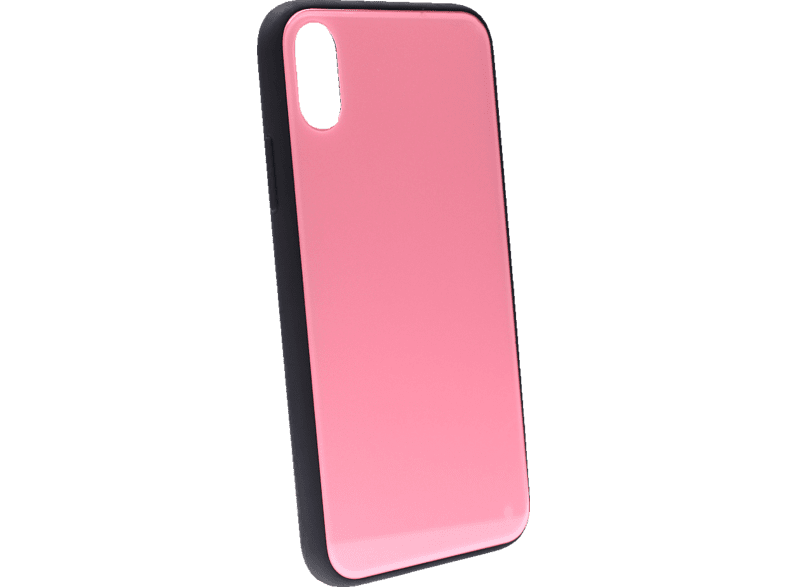 AGM 27665 Glas , Backcover, Apple, iPhone X, iPhone XS, Echt Glas und Thermoplastisches Polyurethan, Pink