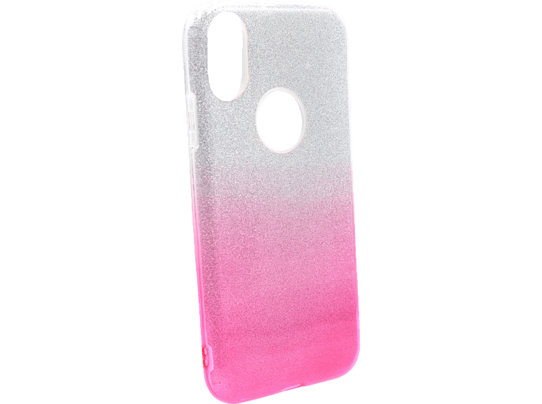 AGM 27669 Slope , Backcover, Apple, iPhone X, iPhone XS, Polycarbonat und Thermoplastisches Polyurethan, Silber/Pink