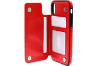 AGM 27674 Wallet , Backcover, Apple , iPhone X, iPhone XS, Kunstleder, Thermoplastisches Polyurethan, Rot