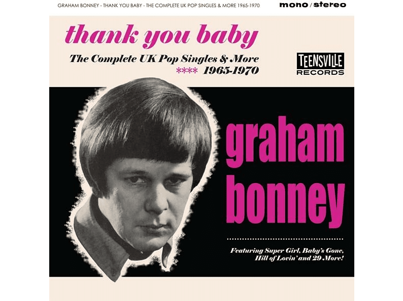 Graham Bonney - Thank You Baby (The Complete UK Pop Singles & More [CD]