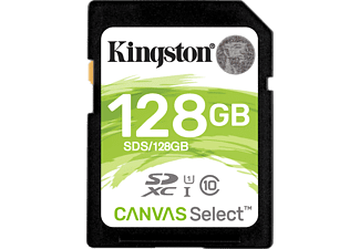 KINGSTON SDXC Canvas Select R80 128GB, Class 10