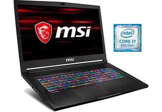 "Portátil gaming- MSI GS63 Stealth 8RE-060ES, 15"", Intel® Core™ i7-8750H,16GB, 1TB+256SSD,GTX1060,W10"