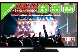 OK. ODL 43650UV-TIB, 108 cm (43 Zoll), DCI 4K, SMART TV, UHD LED TV, 1200 CMP, DVB-T2 HD, DVB-C, DVB-S, DVB-S2