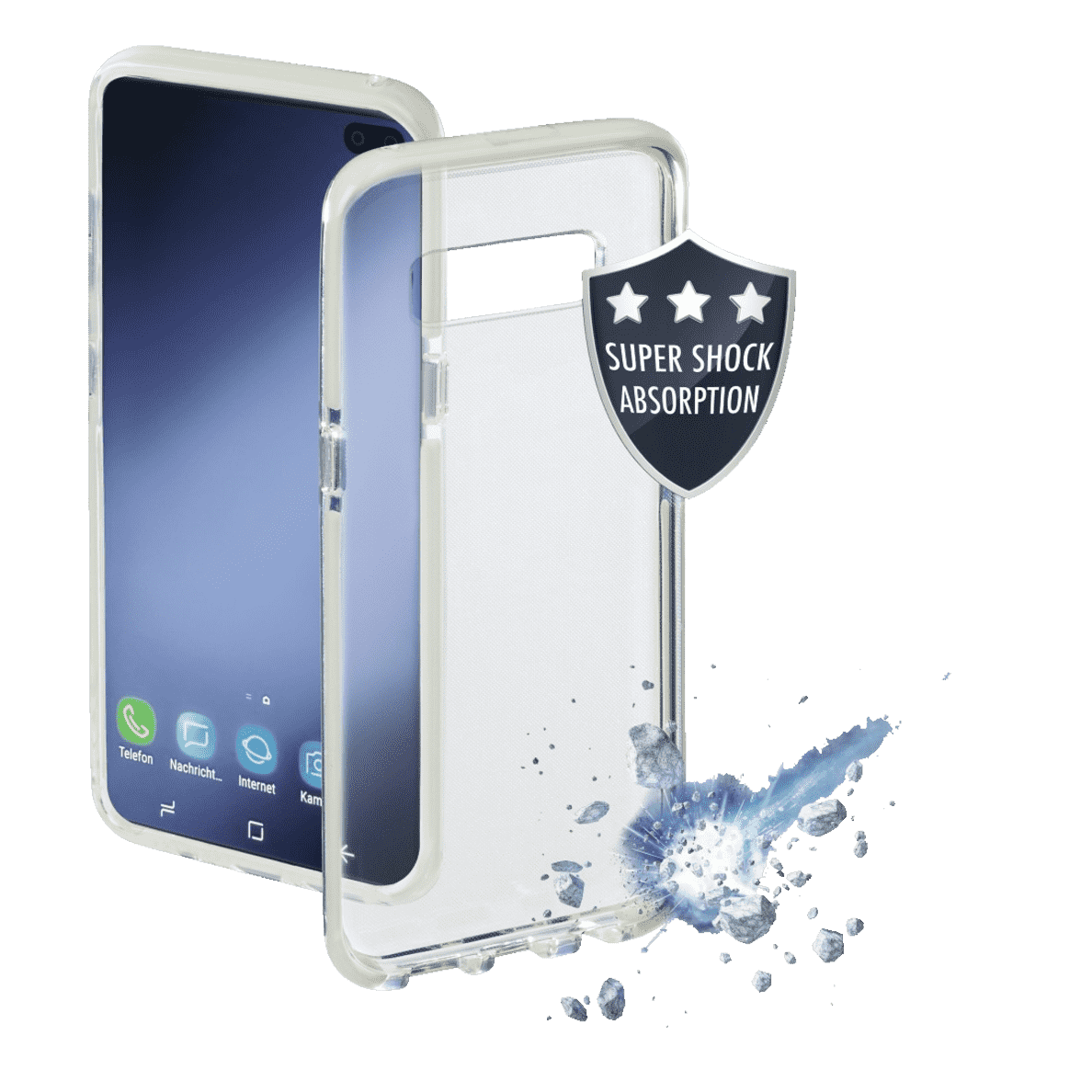 hama protector f r samsung galaxy s10 in wei lightning. Black Bedroom Furniture Sets. Home Design Ideas