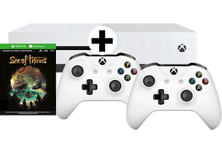 MICROSOFT Xbox One S 1TB Konsole Sea of Thieves Bundle + 2ten Xbox Wireless Controller weiß