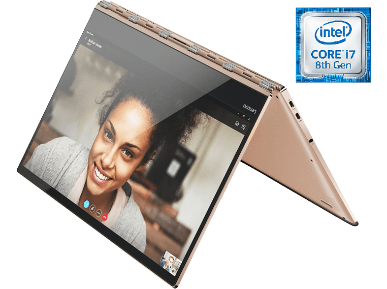 LENOVO Yoga 920, Convertible mit 13.9 Zoll Display, Core™ i7 Prozessor, 8 GB RAM, 512 GB SSD, UHD Grafik 620, Copper