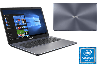 ASUS 17 R702MA-BX005T, Notebook mit 17.3 Zoll Display, Celeron® Prozessor, 4 GB RAM, 1 TB HDD, Intel® UHD-Grafik 600, Star Grey