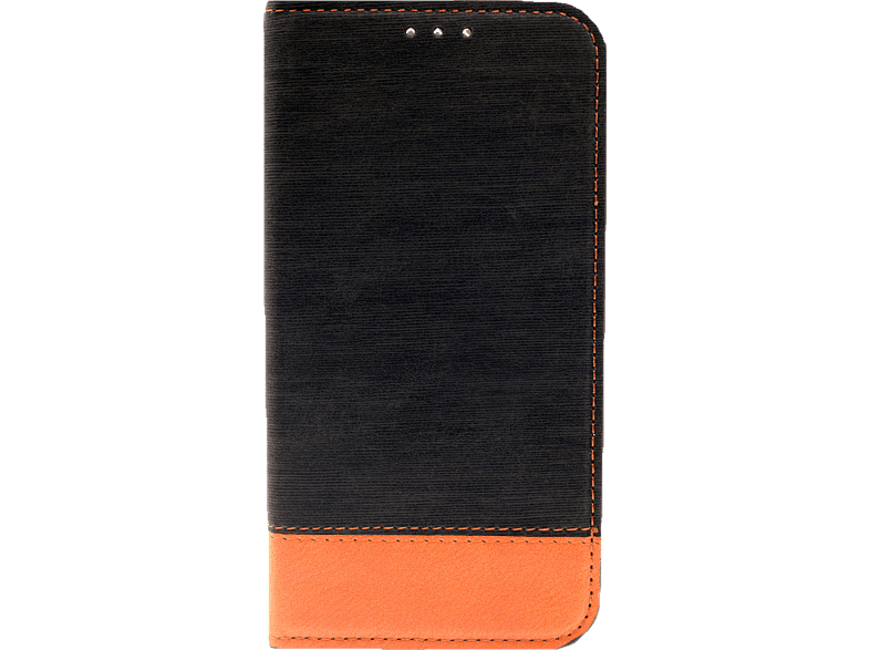 AGM 27691 Retro , Bookcover, Apple, iPhone X, iPhone XS, Kunstleder/Thermoplastisches Polyurethan, Schwarz/Braun