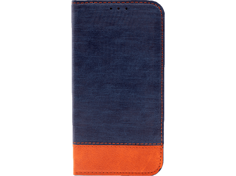 AGM 27693 Retro , Bookcover, Apple, iPhone X, iPhone XS, Kunstleder/Thermoplastisches Polyurethan, Blau/Braun