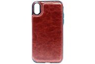 AGM 27675 Wallet , Backcover, Apple, iPhone X, iPhone XS, Kunstleder/Thermoplastisches Polyurethan, Braun