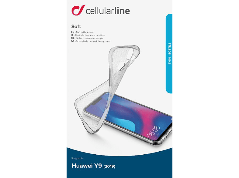 CELLULAR LINE Soft , Backcover, Huawei, Y9 (2019), Thermoplastisches Polyurethan, Transparent