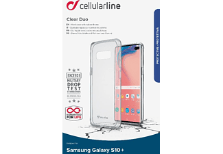CELLULAR LINE Clear Duo Handyhülle, Transparent, passend für Samsung Galaxy S10+