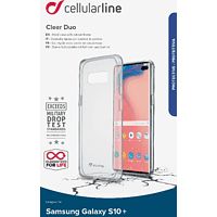 CELLULAR LINE Clear Duo Backcover Samsung Galaxy S10+ Thermoplastisches Polyurethan Transparent