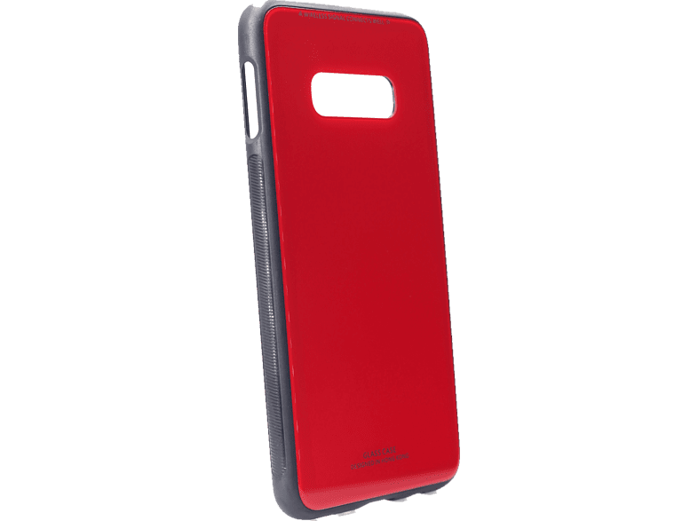 AGM 27722 Glas Backcover Samsung Galaxy S10e Echt Glas, Thermoplastisches Polyurethan Rot/Schwarz