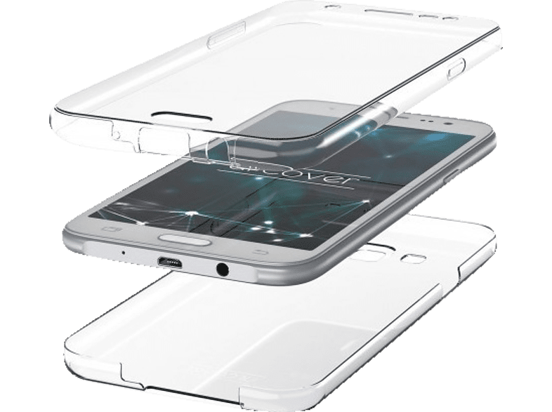 AGM 27743 Full Cover Samsung Galaxy S10 Thermoplastisches Polyurethan Transparent