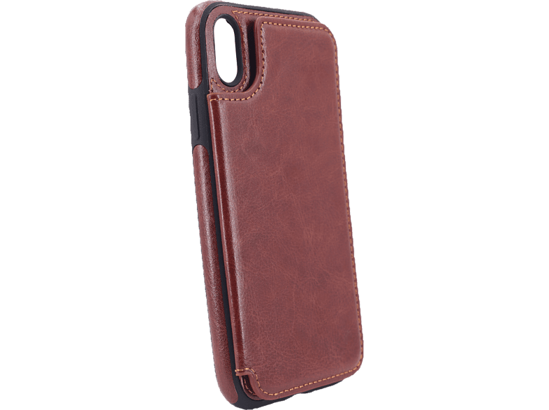 AGM  27530 Wallet Backcover Apple iPhone XR Kunstleder, Thermoplastisches Polyurethan Braun | 04026436275306