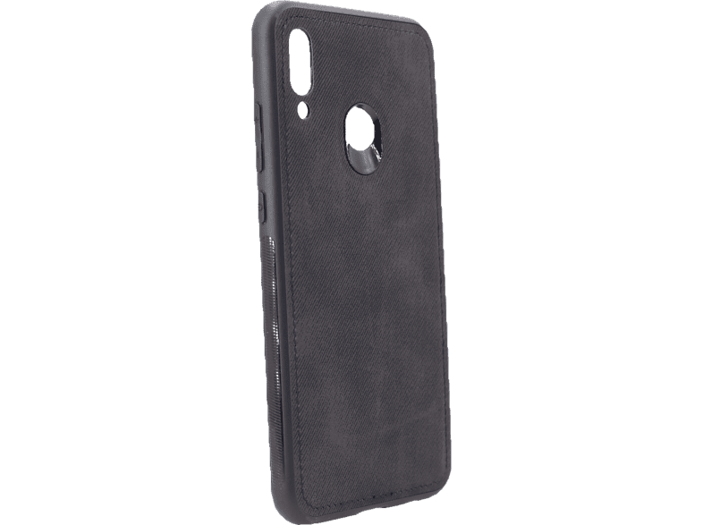 AGM 27656 Denim , Backcover, Huawei, P Smart 2019, Silikon, Stoff, Schwarz