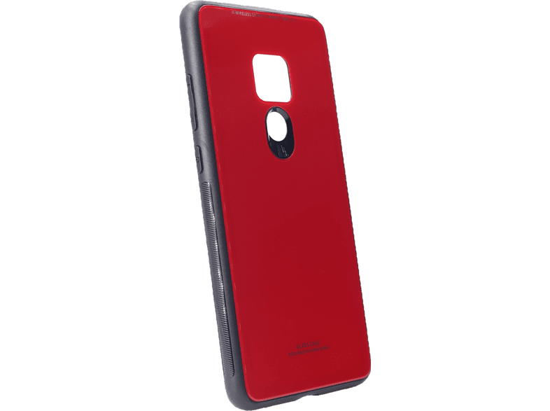 AGM 27769 Glas Backcover Huawei Mate 20 Echt Glas, Thermoplastisches Polyurethan Rot/Schwarz