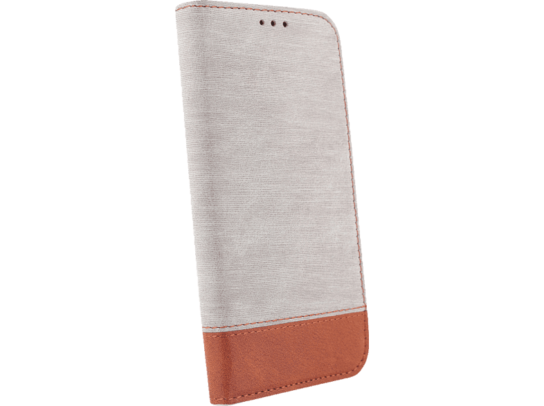 AGM 27692 Retro Bookcover Apple iPhone X, iPhone XS Kunstleder, Thermoplastisches Polyurethan Grau/Braun