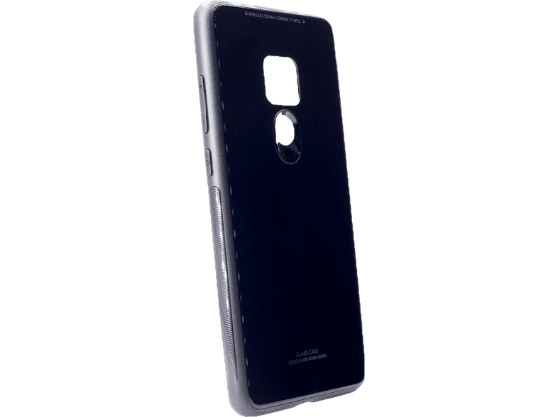 AGM 27768 Glas , Backcover, Huawei , Mate 20, Echt Glas, Thermoplastisches Polyurethan, Schwarz