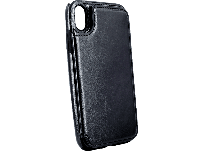 AGM  27529 Wallet Backcover Apple iPhone XR Kunstleder, Thermoplastisches Polyurethan Schwarz | 04026436275290
