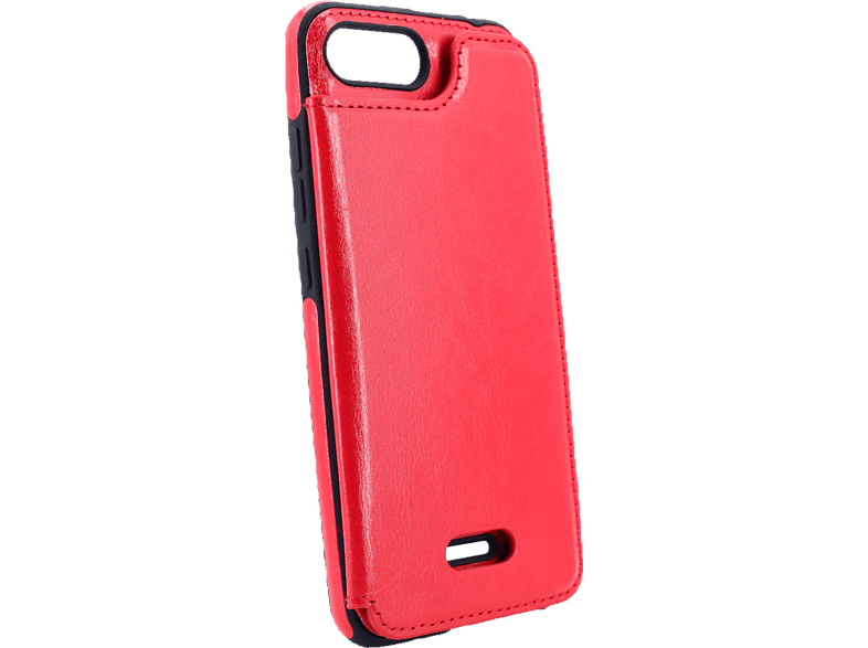 AGM 27839 Wallet Backcover Xiaomi Redmi 6 Kunstleder, Thermoplastisches Polyurethan Rot