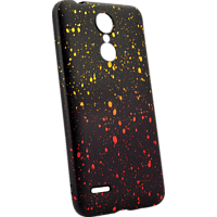 AGM 27715 Point Backcover LG K9 Thermoplastisches Polyurethan Gelb/Orange