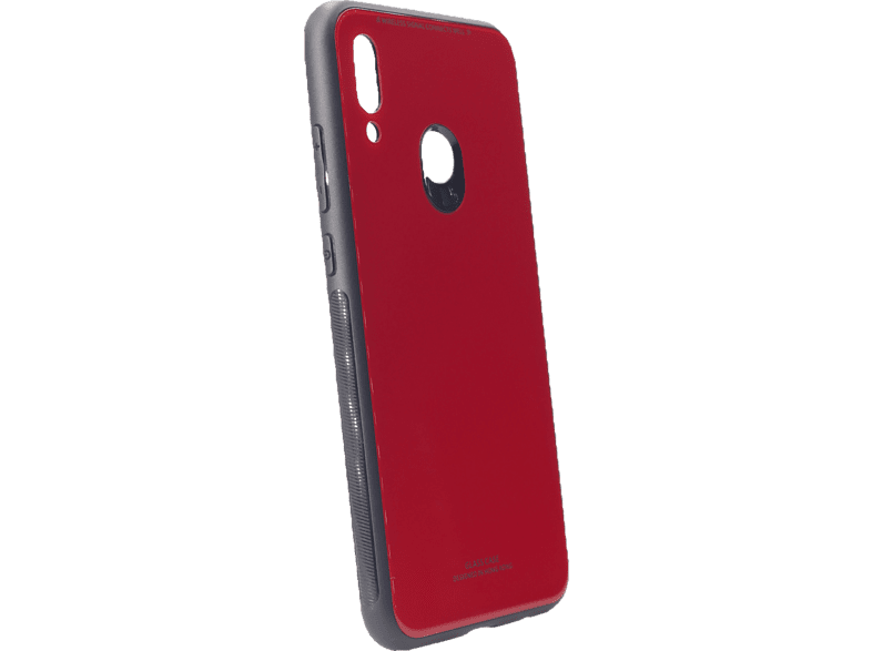 AGM 27650 Glas Backcover Huawei P Smart (2019) Echt Glas, Thermoplastisches Polyurethan Rot/Schwarz
