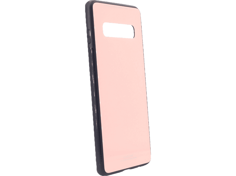 AGM 27742 Glas Backcover Samsung Galaxy S10 Echt Glas, Thermoplastisches Polyurethan Pink