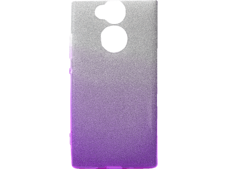 AGM 27775 Slope Backcover Sony Xperia XA2 Polycarbonat, Thermoplastisches Polyurethan Lila/Silber