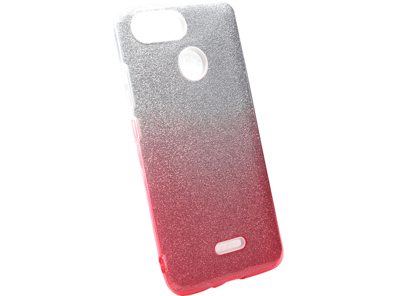AGM 27821 Slope Backcover Xiaomi Redmi 6 Polycarbonat, Thermoplastisches Polyurethan Pink/Silber