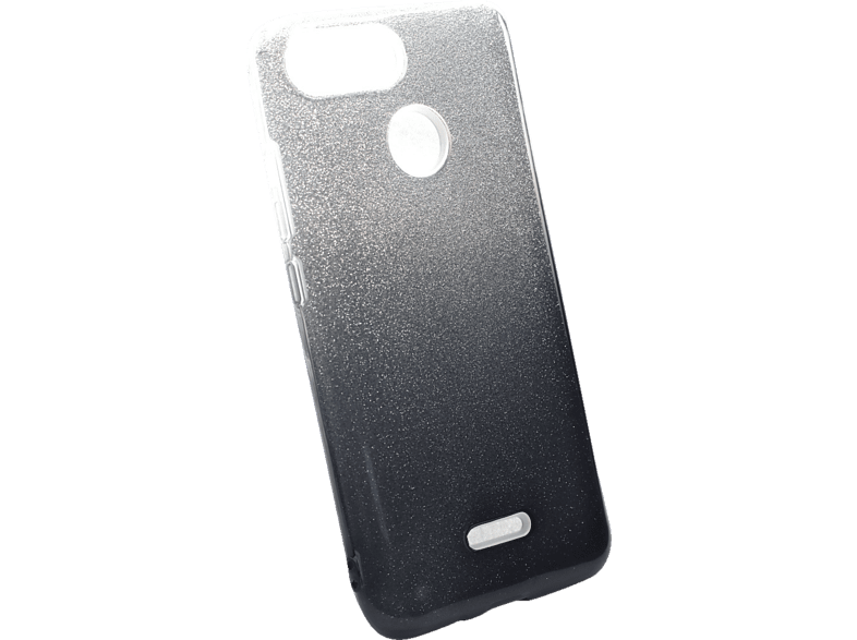 AGM 27819 Slope Backcover Xiaomi Redmi 6 Polycarbonat, Thermoplastisches Polyurethan Rauch/Silber