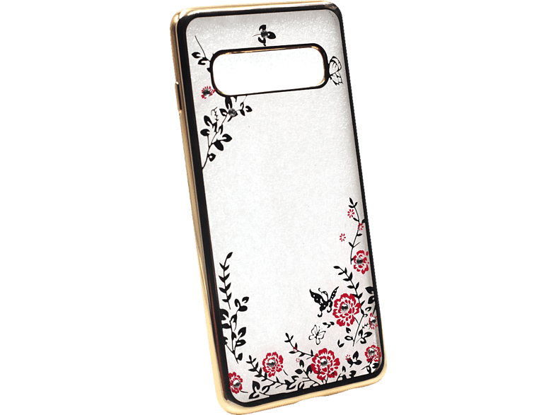 AGM 27745 Feeling Backcover Samsung Galaxy S10 Thermoplastisches Polyurethan, Kunststoff Gold