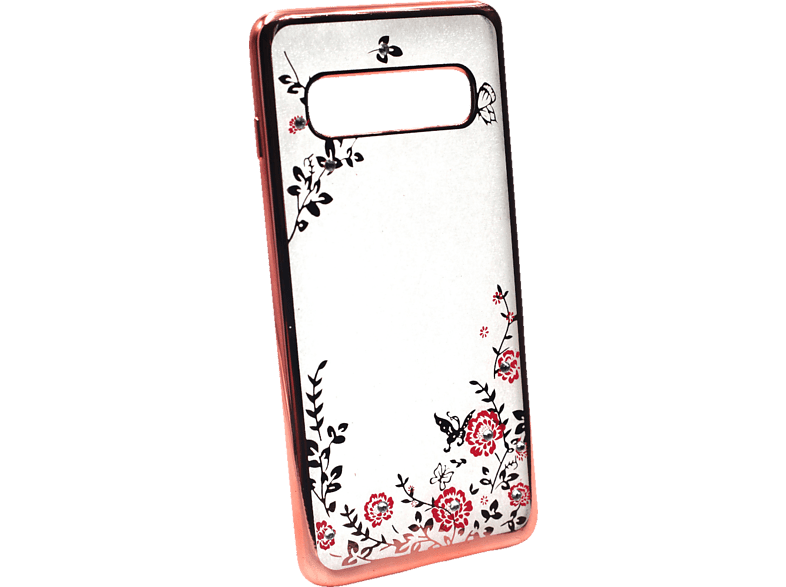 AGM 27746 Feeling , Backcover, Samsung, Galaxy S10, Thermoplastisches Polyurethan, Kunststoff, Gold