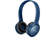 PANASONIC RP-HF410B, On-ear Kopfhörer Bluetooth Blau