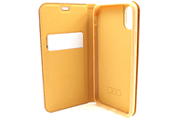AGM 27686 Relief , Bookcover, Apple, iPhone X, iPhone XS, Kunstleder, Stoff, Thermoplastisches Polyurethan, Aluminium, Gold