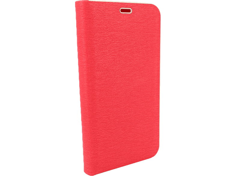 AGM 27684 Relief Bookcover Apple iPhone X, iPhone XS Kunstleder, Stoff, Thermoplastisches Polyurethan, Aluminium Rot