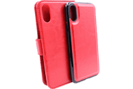 AGM 27677 2in1 , Bookcover, Apple, iPhone X, iPhone XS, Kunstleder, Silikon, Rot