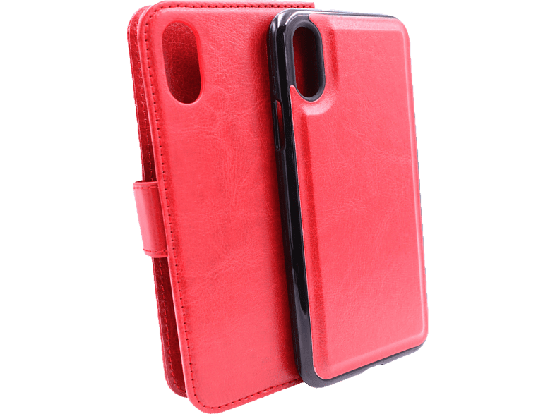 AGM 27677 2in1 Bookcover Apple iPhone X, iPhone XS Kunstleder, Silikon Rot