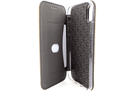 AGM 27688 Smart , Bookcover, Apple, iPhone X, iPhone XS, Kunstleder, Stoff, Thermoplastisches Polyurethan, Gold