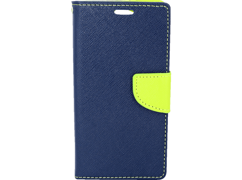 AGM  27780 Fashion Bookcover Sony Xperia XA2 Obermaterial Kunstleder, Thermoplastisches Polyurethan Dunkelblau, Grün | 04026436277805