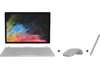 "MICROSOFT Surface Book 2 Convertible + Surface Arc Touch Mouse + Surface Pen - Set (15 "", 256 GB, Silber)"