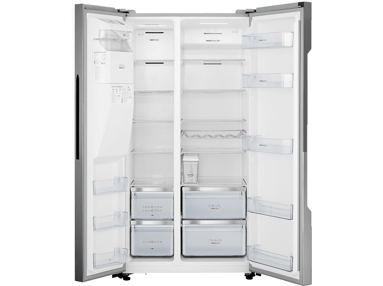 GORENJE NRS9182VX  Side by Side (344 kWh/Jahr, A++, 1793 mm hoch, Inox-Look)