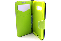 AGM 27910 Fashion , Bookcover, Samsung, Galaxy S10e, Obermaterial Kunstleder, Thermoplastisches Polyurethan, Dunkelblau/Lime
