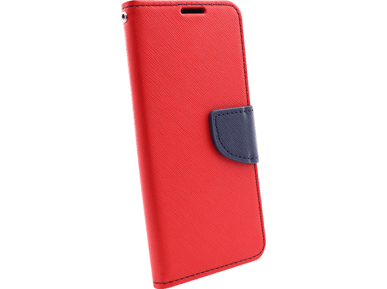 AGM 27907 Fashion , Bookcover, Samsung, Galaxy S10, Obermaterial Kunstleder, Thermoplastisches Polyurethan, Rot/Dunkelblau