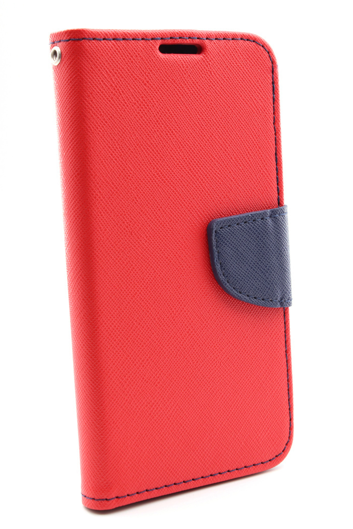 AGM 27908 Fashion , Bookcover, Samsung, Galaxy S10e, Obermaterial Kunstleder, Thermoplastisches Polyurethan, Rot/Dunkelblau
