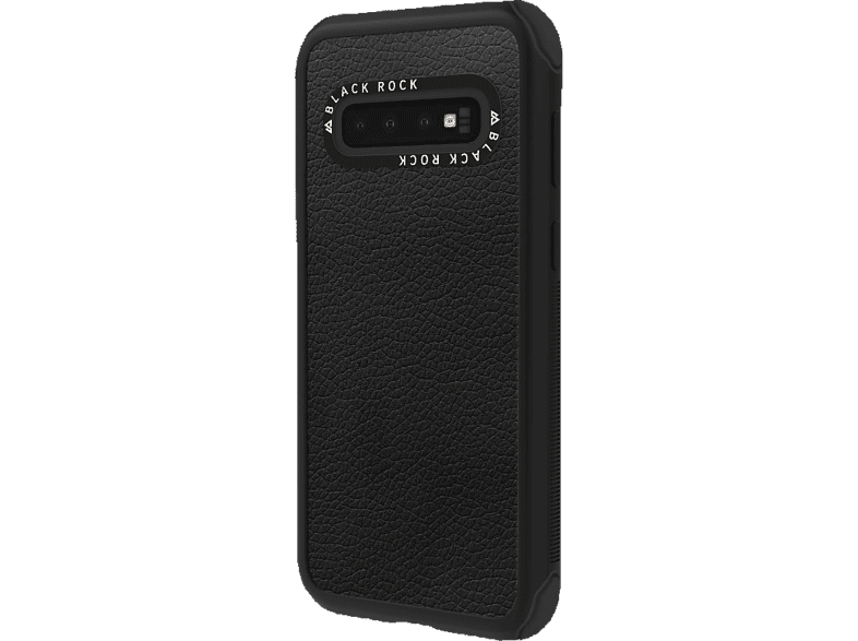 BLACK ROCK Robust Real Leather , Backcover, Samsung, Galaxy S10, Schwarz
