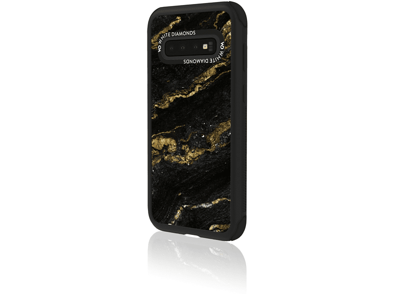 WHITE DIAMONDS Tough Marble , Backcover, Samsung, Galaxy S10, Schwarz/Gold